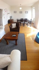Photo for Sunny Apartment w/ sea views, large terrace, barbecue and Wifi