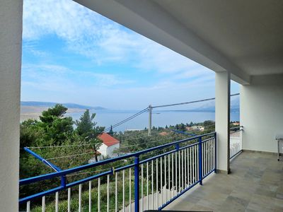Photo for Apartment with beautiful panoramic views of the sea