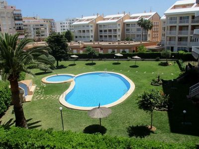 Photo for Casa Tamarits 2 Bed Apartment 100yds from Javea Arenal beach