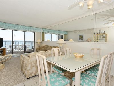 Photo for FREE DAILY ACTIVITIES! LINENS INCLUDED*! Direct Oceanfront 2 bedroom, 2 bath condo (Den converted into 3rd bedroom with double bed).