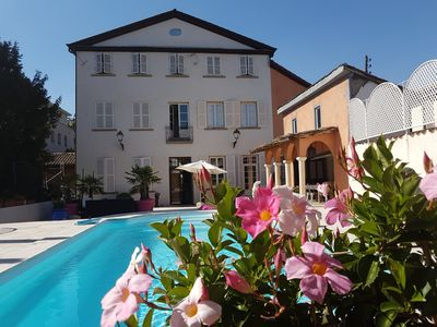 Photo for 18th century townhouse with private pool Lyon L Île Barbe