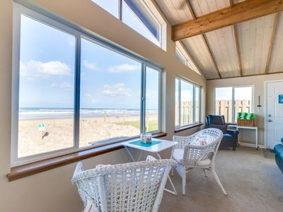 Photo for Stunning, dog-friendly, oceanfront home with private hot tub & chef's kitchen