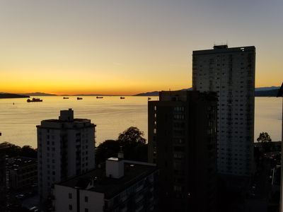 Photo for Cozy apartment with unobstructed views located two blocks away from English Bay!