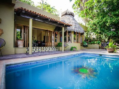 Photo for Relax in the pool with breathtaking views of the ocean and beach! - San Pancho
