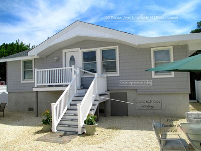 Photo for 2019 LAVALLETTE New 3 BR Beach Home, C a/c Granite Kitchen 9 Houses from Beach