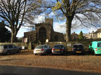 St Oswald's Church opposite the house