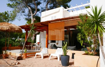 Photo for La Pause, apartment 2 bedrooms 2 bathrooms on the garden level Cala Vadella