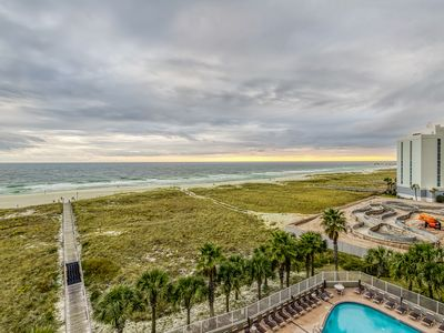 Photo for Waterfront condo w/ attractive layout, multiple pools, hot tub, & grilling area