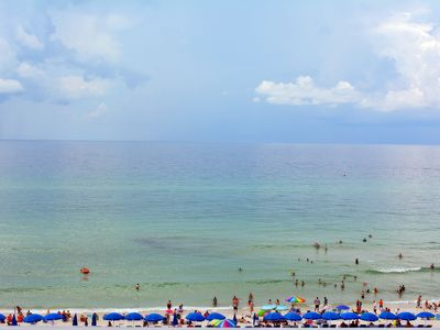 Photo for Beautiful beach front condo with one bedroom and one bath!