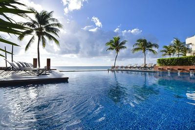 One of the biggest condo pools in Playa