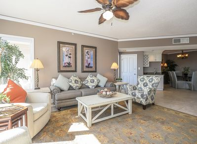 Living Room with New Furniture at 4108 Windsor Court North