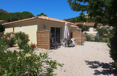 Photo for Two bedroom terraced villa in Calvi with air conditioning 800 meters from the beach