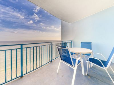 Photo for Renovated Gulf-front condo w/ beach access, pool, hot tub & gym!