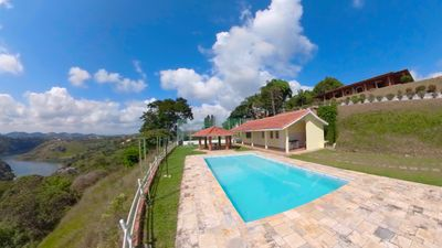 Photo for Farm with view to dam, pool, field, tv and internet in Igaratá.
