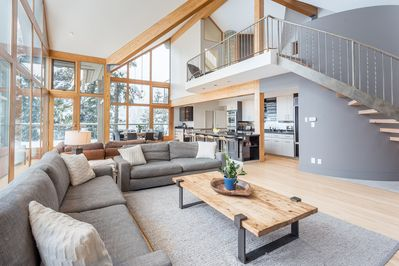 Floor to ceiling glass windows allow you to take in the beautiful surroundings