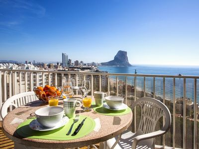 Photo for Fabiola1 7º 2 - Apartment with sea views and pool near the beach in Calpe