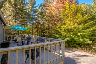 Breathe in the crisp country air from the seasonal deck.