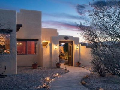 Photo for Gorgeous Santa Fe Style Home With Private Hot Tub Located in Cornville - Spanish Hacienda S065