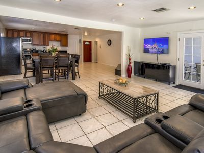 Photo for 2250 sqft Spacious  4Bd/3BTh House, 20 Mins Walk To Disneyland, Fireworks view!!