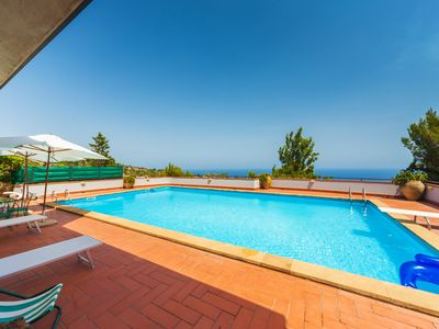 Photo for Beautiful, comfortable villa with private pool, amazing sea view, near the amenities