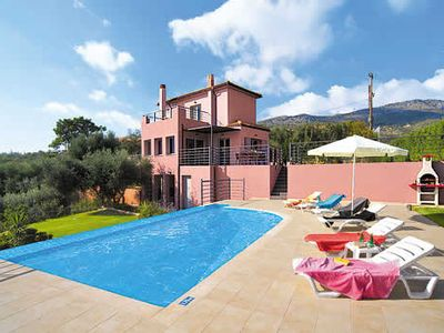 Photo for 300 metres from sandy beach, 3 bedroom villa, private pool & Wi-Fi
