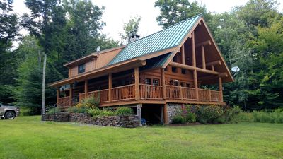 Photo for Lake Front Log Cabin Close to Mt. Snow