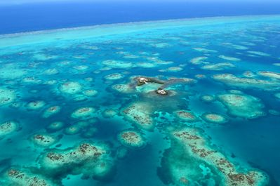 Your own private paradise! Note barrier reef on top of photo
