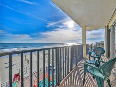 Photo for NEW LISTING! Oceanfront condo with shared pool in the perfect downtown location!