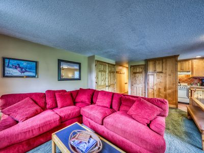 Photo for Budget-friendly ski-in/ski-out studio with shared hot tubs & mountain views!