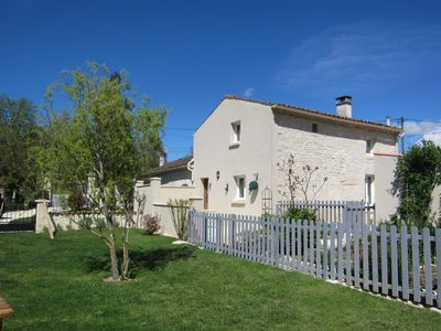Photo for Newly refurbished 2 storey stone cottage in the heart of the French countryside