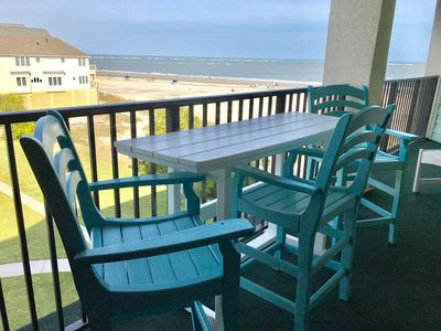 Imagine having breakfast on the balcony listening to and looking at the ocean...