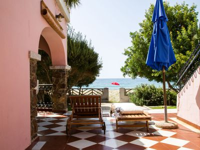 Photo for Villa by the sea on the beautiful beach of Solanas