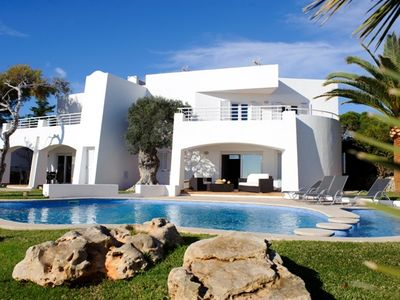 Photo for charming villa on the waterfront, overlooking the open sea, private pool