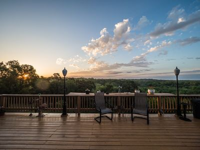 Photo for Experience a sunrise you never forget from the deck at the House on Cox Hill