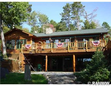 Photo for Beautiful Wood-Sided Cabin; Pontoon Boat included, privacy, and great fishing!!