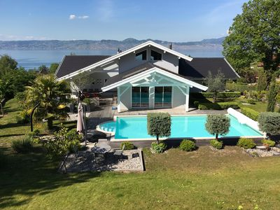 Photo for Wooden frame house overlooking Lake Geneva