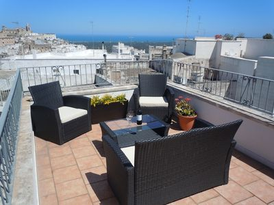 Photo for Beautiful 18th Century Stone Townhouse With Balcony And 2 Roof Terraces