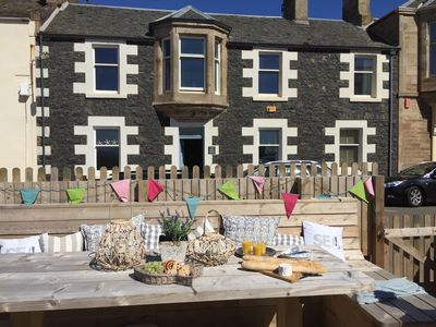 Photo for Beach House in Elie with fantastic Sea Garden