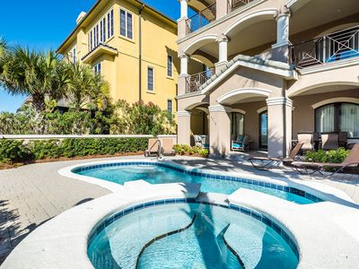 """Photo for """"Caribbean Cabana"""" Private Heated Pool! Gulf Views! 60ft to the Beach!"""