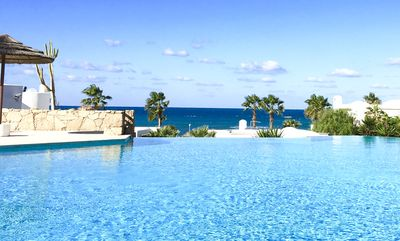 Infinity pool with great sea views