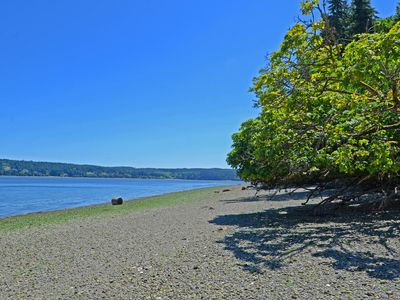 Photo for Stay in a lovely Beach Cottage w/ a beautiful private beach on Hazel Point!