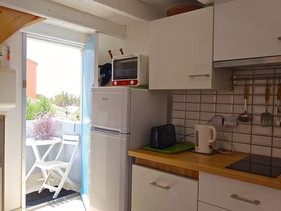Photo for Nice apartment T2 + Mezzanine, 4/5 pers. for a holiday in the water!