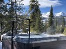 Hot tub with amazing view of 10 Mile Range