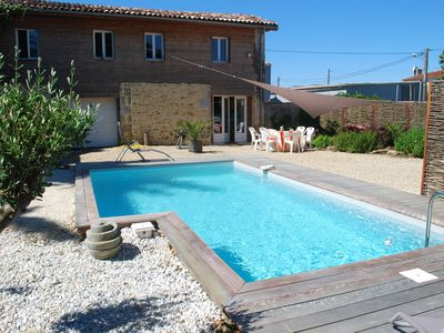 Photo for House with pool in the heart of the vineyards of the Médoc
