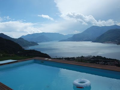 Photo for Lovely apartment with breathtaking views over Lake Como