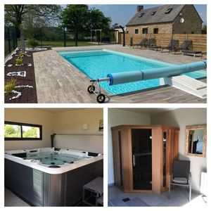 Photo for Country house with swimming pool, spa and sauna in the Bay of Mt St Michel