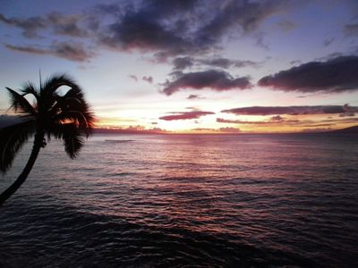 One of many breathtaking sunsets you'll see from our condo!