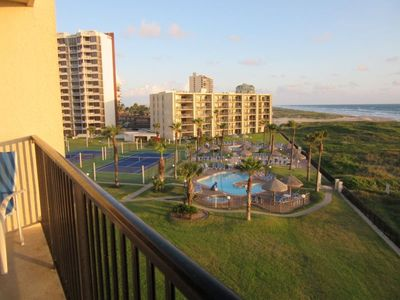 Photo for Beachfront condo with great beach views. Sleeps 6, 1 Bedroom, 2 Baths. Several pools &Jacuzzis