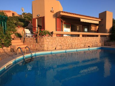 Photo for Stylish 3 bed villa, private pool, spectacular 180° sea view