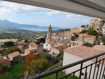 Photo for Holiday house (8-9 pers) panoramic view of Calvi bay and the mountain